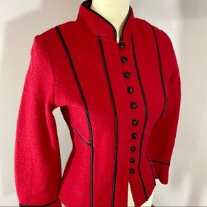 Vintage Mainbocher red marching band wool jacket